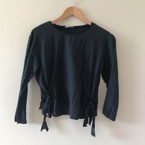 Zara collection Navy Blue Longsleeve With …